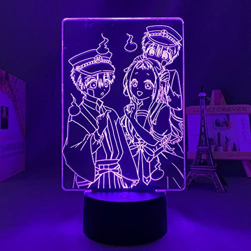 XCDH - Luce notturna 3D a LED, anime Action Figure Night, Manga, Toilet Bound Hanako Kun for Kid Bedroom Decor Lamp Kawaii Room Decor Light Bedside