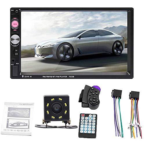 Clenp Lettore MP5 per Auto, 7023B 7 Pollici 2 DIN Autoradio Bluetooth Audio Video MP5 Player con Telecamera Posteriore Un Colore *Niente Foto