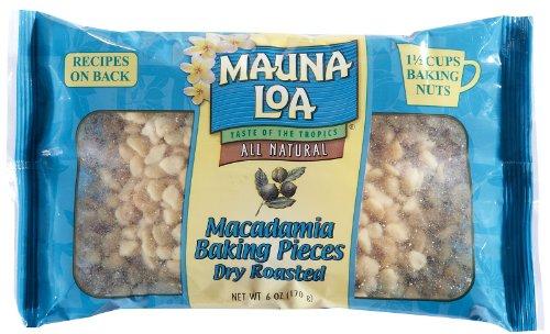 Mauna Loa Roasted Unsalted Macadamia Nut Baking Pieces - 6 oz