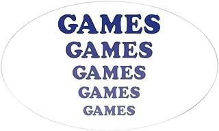 CafePress Amusement Park 'Games' Gamer Oval Sticker Oval Bumper Sticker, Euro Oval Car Decal