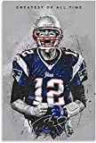 Diy Pintura Diamante Por Kit Tom Brady Fútbol 5d Diamond Painting Taladro Completo Diamante Bordado Kit 11.8'x15.7'(30x40cm) Sin Marco