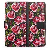 DeinDesign Étui Compatible avec Sony Xperia E5 Étui Folio Étui magnétique Fleurs Transparent...