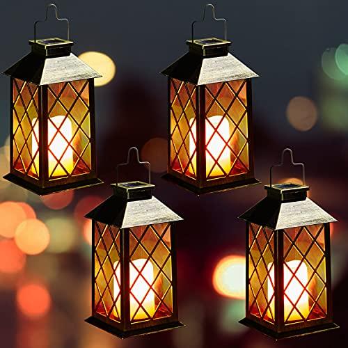 Lampada Solare Giardino Esterno,OxyLED 4 pcs LED Luci Solari Giardino,Cambia Colore Lampade da Esterno per Prato,Decorativo LED Lampade Solari,IP44 Impermeabile Solari Luce Paesaggio Strade