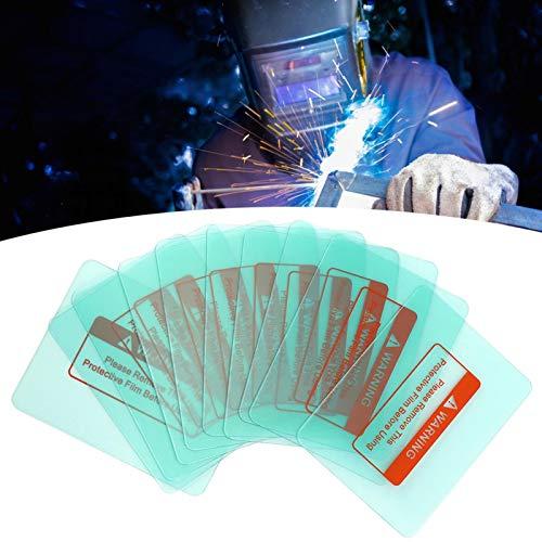 Casco de soldadura Capucha para lente Placa de protección transparente Esquina redonda, 10 piezas 116 x 90 mm Materiales industriales utilizados para soldar la lámina de protección exterior o interior