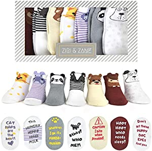 ★ WHETHER YOU'RE SEARCHING for the PERFECT BABY SHOWER GIFT for a newborn baby boy or girl or cute baby socks FOR YOUR LITTLE ONE, the last thing you want is a newborn gift sock set made of harsh materials. At Ziri & Zane, we've sourced a SOFT, premi...