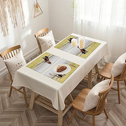 Sets de table de Rectangulaire lavables, durables, résistants à la chaleur et antidérapants,Chevaux, baie, Akhal, teke, étalon cheval, élevage, sur, les, ,Salle à Manger de Cuisine de Fête (Lot de 4)