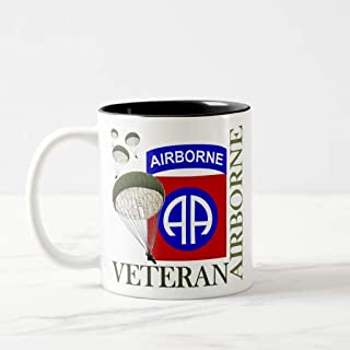 FiuFgyt Veteran 82nd Airborne Travel Black Funny Coffee Mug for Women Office Mug Gifts 11oz Christmas Cup