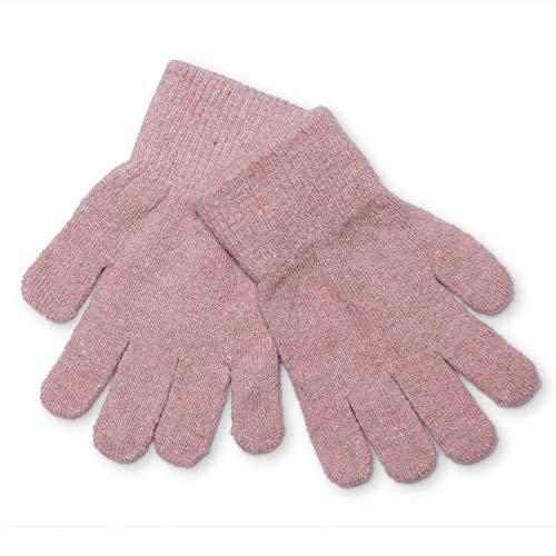 CELAVI Kinder Handschuhe aus hochwertiger Wolle (Orchidee, 7/12 Jahre)