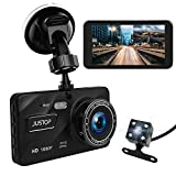 JUSTOP Dash Cam 1080P Full HD In Car DVR Camera Digital Driving Video Recorder 4' LCD Screen 170°Wide Angle 6G Lens WDR With Waterproof Rear Reversing Camera