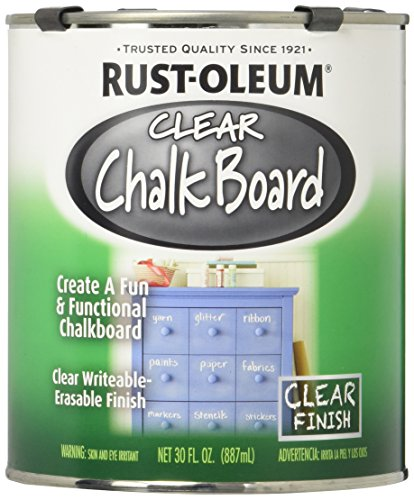 Rust-Oleum 284469 Specialty Chalkboard Paint, 30-Ounce, Clear - 2 Pack