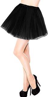 Lansian Women Tulle Tutu Skirt 3-Layered Classic Elastic for Ballet Dance Dress up Birthday Prom Party Favor
