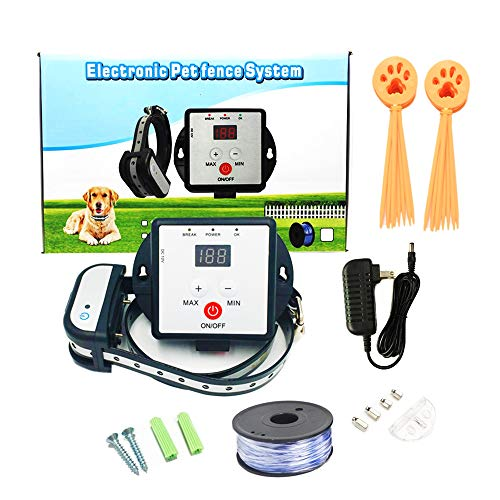 JK TECH New Version Rechargeable Dog Fence System Basic In-Ground...