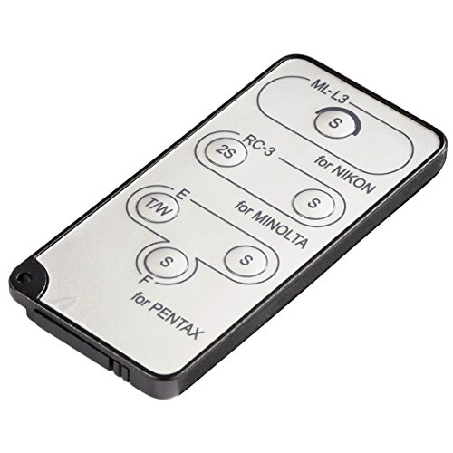 Hama Fernauslöser Infrarot für Pentax, Nikon, Minolta mit eingebautem Infrarot-Empfänger, Easy