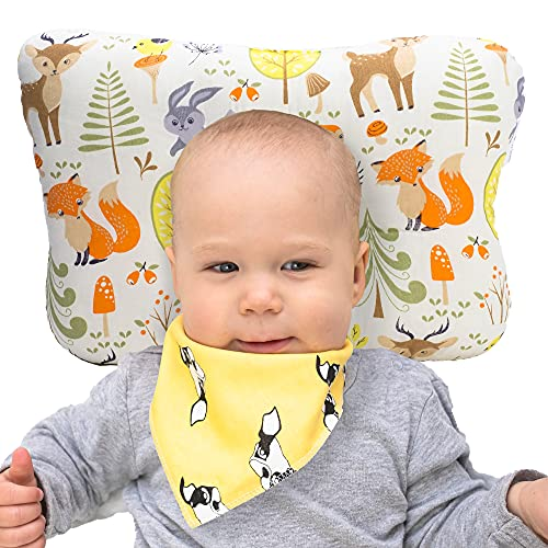 Bliss N Baby Head Shaping Pillow - Baby Pillow for...