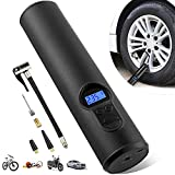 Vstarner Portable Tire Inflator, Bike Pump,Handheld Air Compressor Portable Air Pump with Digital Display for Car Bicycle Tires and Other Inflatables