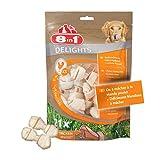 8 in 1 Delights XS - Os de bœuf à Mâcher pour Chien de Petite Taille -Longue durée- Viande à cœur - Limite le...