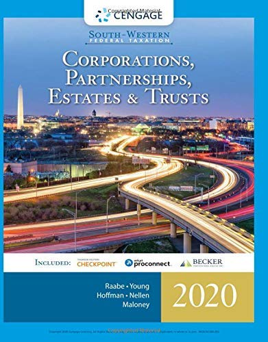 South-Western Federal Taxation 2020: Corporations, Partnerships, Estates and Trusts: Corporations, Partnerships, Estates and Trusts (with Intuit ProConnect ... 1 term (6 months) Printed Access Card)