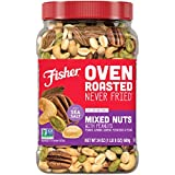 Fisher Snack Oven Roasted Never Fried, Mixed Nuts with Peanuts, 24oz (Pack of 1) Peanuts, Almonds,...