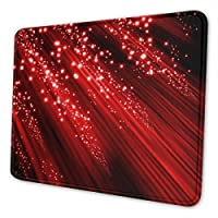 マウスパッド 超大型 ゲーミングマウスパッド 赤いきらめき おしゃれ シンプル 高級感 ゲーミング デスクマット 防水 疲労軽減 耐久性が良い 滑り止めゴム底 ゲーミングなど適用 マウスの精密度を上がる (複数サイズ)