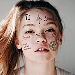 Recreate yourself for a day with strinkingly beautiful XXXTentacion temporary tattoos! Includes every face tattoo he had, these are exact replicas of XXXTentacion face tattoos! Temporary Tattoos Will Never Smear and Always Look Perfect! Easy to Put O...