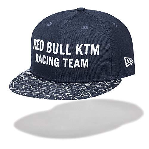 Red Bull KTM New Era 9FIFTYLetra Flat Cap, Azul Unisexo Talla única...