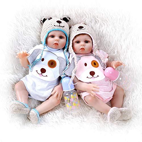 Terabithia 18 Pollici 48 cm Vita Reale Premie Dimensione Bambino Neonato Cuddy Baby Boy Girl Doll Look Vero Silicone Vinile Corpo Pieno Bambole rinate Gemelli Lavabili