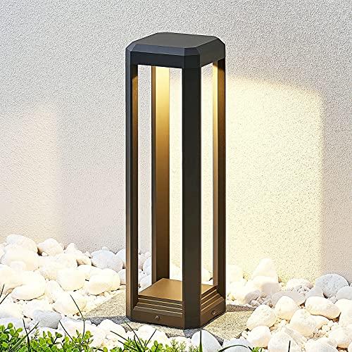 Lucande LED Sockelleuchte/Wegeleuchte außen Anthrazit   Höhe: 50 cm   Sockellampe Garten IP65   inkl. 1 x 11W LED Leuchtmittel A+ fest verbaut   warmweiß (3.000K)   Aussenleuchte