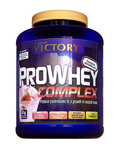 Victory Pro Whey Complex Fresa, 2 kg. Proteina de suero de leche. De la más alta calidad. Promueve el crecimiento muscular.