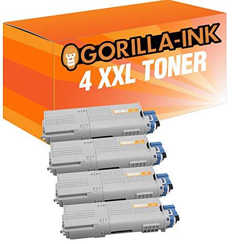 Gorilla-Ink 4 Toner XXL für Oki C532 46484108 46484107 46484106 46484105 C 532 DN C 542 DN MC 563 DN MC 573 DN