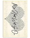 ROBERTY #CelineDion My Heart Will Go On Love Theme #Titanic Lyrics Poster Wall Art Print Painting Home Decor
