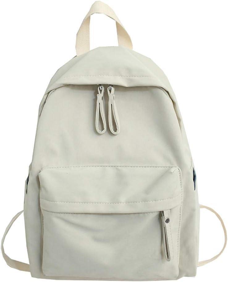 LEOCEE Trend Female Backpack Fashion Canvas Women Backpack Solid Color Shoulder Bags Solid Color Teenager Girl School Bag