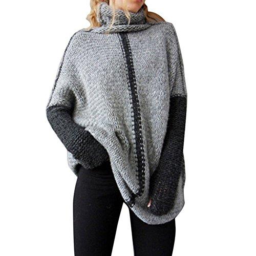 semen Damen Srtick Pocho Sweatshirt Pullover Umhang Überwurf Einheitsgröße Jacke Cardigan Fledermausärmel