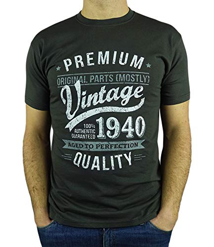 My Generation T-Shirts Vintage Year - Aged To Perfection - 80th Birthday Gift / Present Mens T-Shirt...