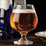 DFGDFG Transparente Capacidad de Alta Capacidad Copa Roja Copa de Vidrio con perfumado Tapa de la Taza de Whisky Brandy Vodka Bar de la casa Barra de Beber Buque (Color : E-1PC)