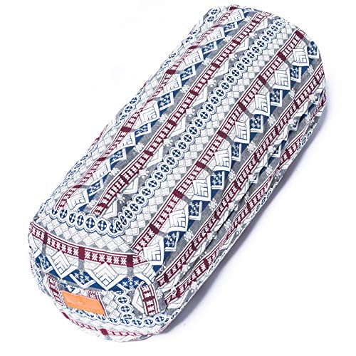 #DoYourYoga® XL-Yogabolster - Füllung : Dinkelspelz in Bio-Qualität - waschbar & hoher Sitzkomfort - Meditationskissen Yogarolle Yogakissen Schlafrolle 9 - Dinkelfüllung