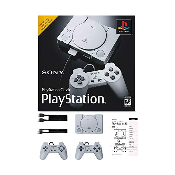 Sony PlayStation Classic Console Holiday 20 Games Bonus Bundle