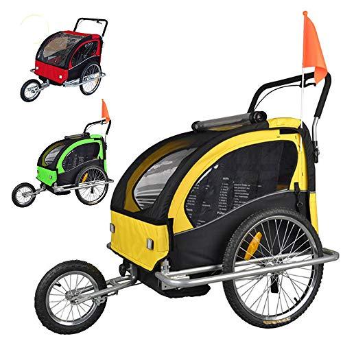 Tiggo Jogger Remorque à Vélo 2 en 1 Remorques vélos pour Enfants JBT03A-D02 Vert