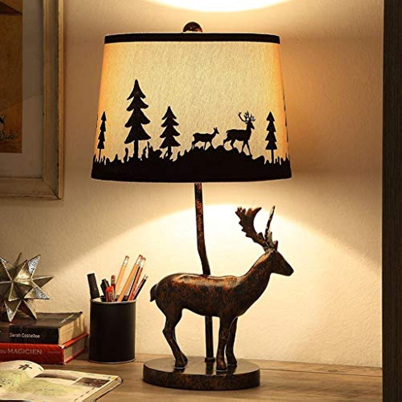 WEI Elch Lichter Wohnzimmer Dekorative Tischlampe Retro Studie Tischlampe Dekoration Kreative Europische Nachttischlampe