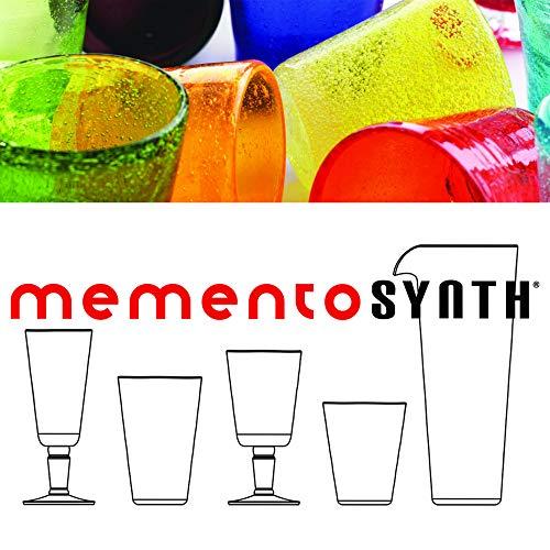 Memento Synth Set 6 Verres Acryliques PULEGOSO avec des Bulles Vert Olive