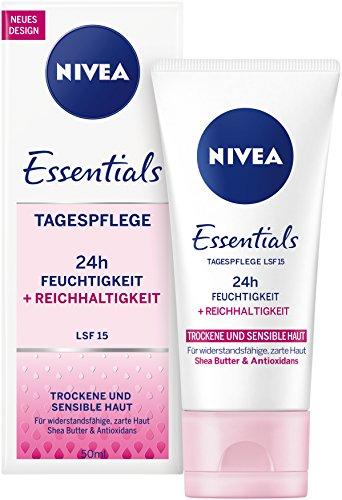 NIVEA Reichhaltige Tagespflege für trockene und sensible Haut, 50 ml Tube