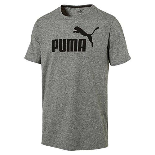 PUMA Erwachsene ESS No.1 Tee Shirt, Medium Gray Heather, L