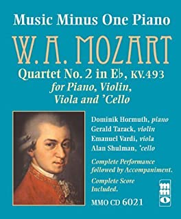 Music Minus One Piano: Mozart: Quartet No. 2 in Eb Major, KV.493 (Sheet Music and CD) by W.A. Mozart (2004-11-24)