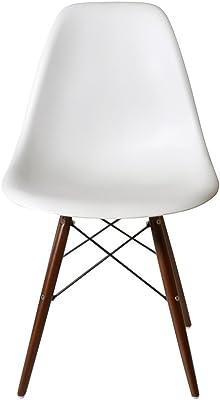 DSW ウォールナット色脚部 【ホワイト】 サイドシェルチェア/Shell Side Chair イームズ PP(強化ポリプロピレン)