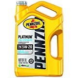 Pennzoil Platinum Full Synthetic Motor Oil (SN) 5W-20, 5 Quart - Pack of 1