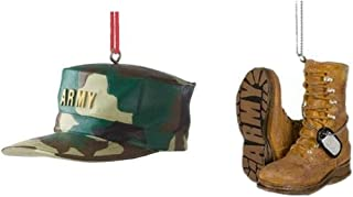 Mid West US Military Army Hat and Boots Christmas Ornament