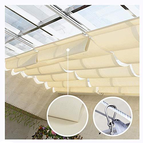 GDMING Sonnensegel Für Seilspanntechnik Außen Ersatz Pergola Abdeckung UV-Schutz Wasserdicht Dauerhaft Bildschirm Zum Terrasse Überdachung Markise 410GSM Polyester, 30 Größen