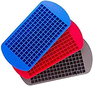 Dolland Ice Cube Tray Mini Ice Cubes Tray Silicone Cubes Ice Tray ice lattice small Cubes160 Molds for Kitchen Bar Party D...