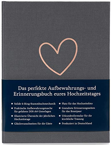 Modernes Stammbuch der Familie A5, Familienstammbuch Marie (Quarzgrau)