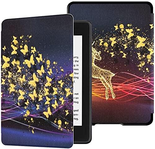 Custodia per il nuovissimo Kindle Paperwhite Cover in tessuto resistente all acqua (10th Generation, 2018 Release), 3d Modern Art Mural Wallpaper Custodia per tablet scura