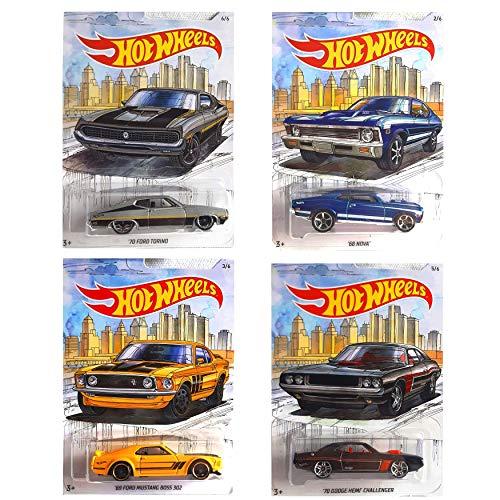 Detroit MUscle Car Exclusive Series 68 NOVA 69 Ford Mustang Boss 302 70 Dodge Hemi Challenger 70 Ford Torino